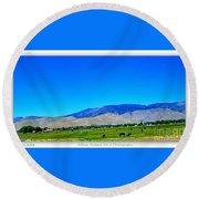 Nevada Range Round Beach Towel