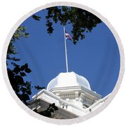 Nevada State Capitol Round Beach Towel