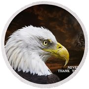 Never Forget - Memorial Day Round Beach Towel