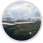 Never Summer Watercolor Round Beach Towel