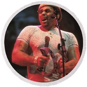 Neville Brothers Round Beach Towel
