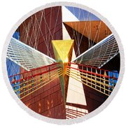 New Age Performing Arts Center Round Beach Towel