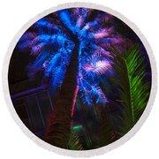 New Age Tropical Palm Round Beach Towel