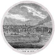 New Bedford, 1839 Round Beach Towel