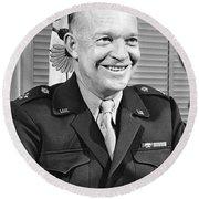 New Chief Of Staff Eisenhower Round Beach Towel