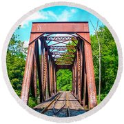 New England Bridge Round Beach Towel