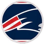 New England Patriots Round Beach Towel by Tony Rubino