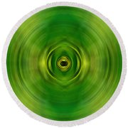 New Growth - Green Art By Sharon Cummings Round Beach Towel