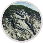 New Hampshire Ledge Round Beach Towel