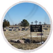 New Hope Cemetery Round Beach Towel