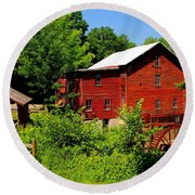 New Hope Mill Round Beach Towel by Dave Files