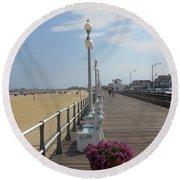 New Jersey Boardwalk Round Beach Towel
