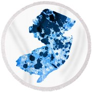 New Jersey Round Beach Towel