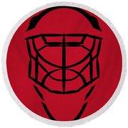 New Jersey Devils Goalie Mask Round Beach Towel