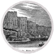 New Jersey Palisades Round Beach Towel