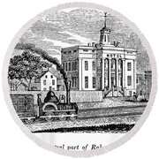 New Jersey Rahway, 1844 Round Beach Towel