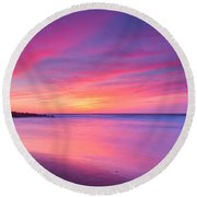 New Jersey Sunrise Round Beach Towel