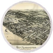 New Kensington Pennsylvania 1896 Round Beach Towel
