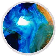 New Life - Abstract Landscape Art Round Beach Towel