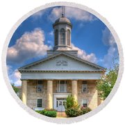 New London Courthouse Round Beach Towel