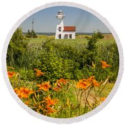 New London Range Rear Lighthouse Round Beach Towel