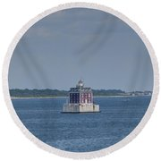 New London Shelf Light Round Beach Towel