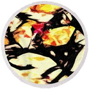 New Mexico Autumn Round Beach Towel