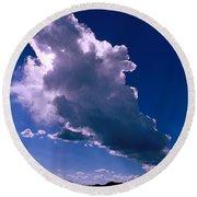New Mexico Sky Round Beach Towel by Jerry McElroy