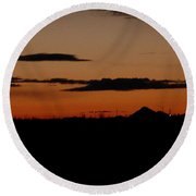 New Mexico Sunset Round Beach Towel