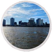 New Orleans - Skyline Of New Orleans Round Beach Towel