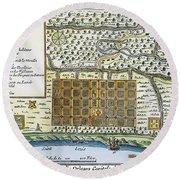New Orleans, 1718-20 Round Beach Towel
