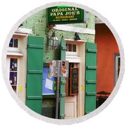 New Orleans - Bourbon Street 4 Round Beach Towel