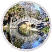 New Orleans City Park Round Beach Towel