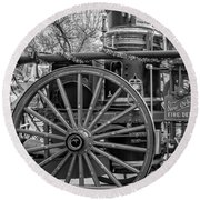 New Orleans Fire Department 1896 Bw Round Beach Towel
