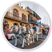 New Orleans Funeral Round Beach Towel