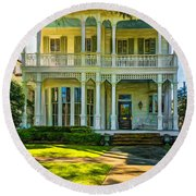 New Orleans Home - Paint Round Beach Towel