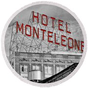 New Orleans - Hotel Monteleone Round Beach Towel