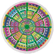New Orleans House Roundel Round Beach Towel