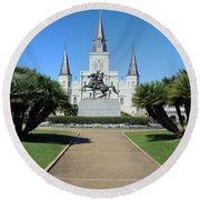 New Orleans - Jackson's Square Round Beach Towel