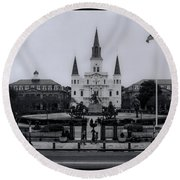 New Orleans La Round Beach Towel