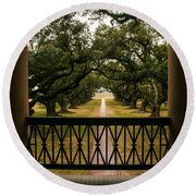 New Orleans Live Oak Round Beach Towel