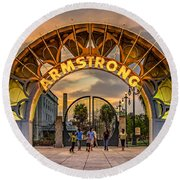 New Orleans Louis Armstrong Park  2 Round Beach Towel