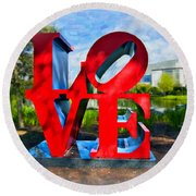New Orleans Love 2 Round Beach Towel