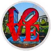 New Orleans Love 3 Round Beach Towel