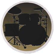 New Orleans Saints Drum Set Round Beach Towel