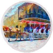 New Orleans Series 53 Round Beach Towel
