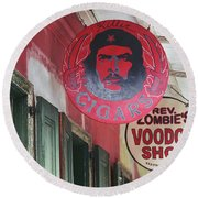 New Orleans Shops Round Beach Towel