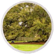New Orleans' Tree Of Life 2 Paint Round Beach Towel
