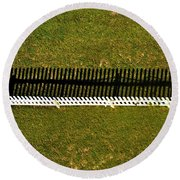 New Perspective Of The Picket Fence Round Beach Towel
