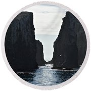 New Photographic Art Print For Sale Californian Channel Islands And Pacific Ocean Round Beach Towel